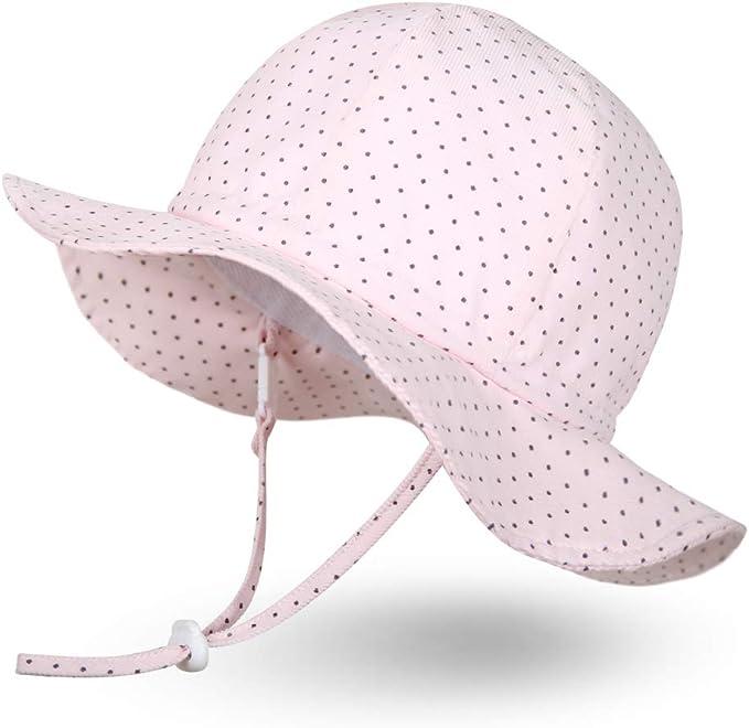 Ami/&Li tots Super Lightweight Child Adjustable Ultrathin Sunhat for Baby Girl Boy Kids Toddler UPF 50