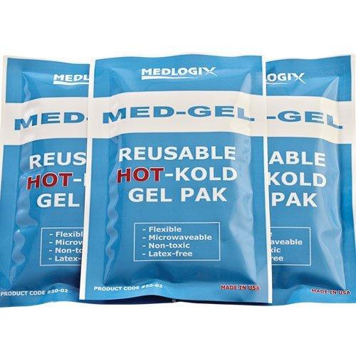 Medlogix Med-Gel reusable HOT-Kold Gel Pak 4 x 6 Inch (One Dozen)