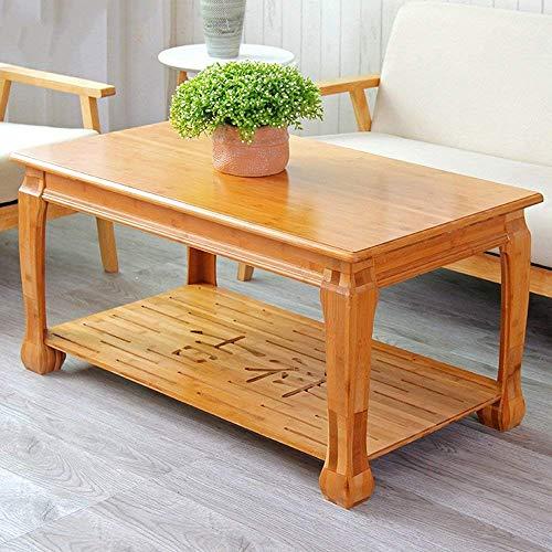 PLLP Mesa de Mesa Plegable de bambú, la Placa Inferior se Puede Desmontar en la Mesa de café Mesa de la computadora,98cm