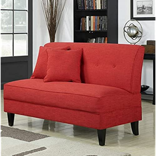 Contemporary Sofa Loveseat   This Upholstered Couch Is Made Of Wood And  Linen Material   Perfect Seat For Your Bedroom, Living Room   Free Toss  Pillows   1 ...