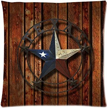 Western Texas Star Zippered Throw Pillow Case Cushion Cover
