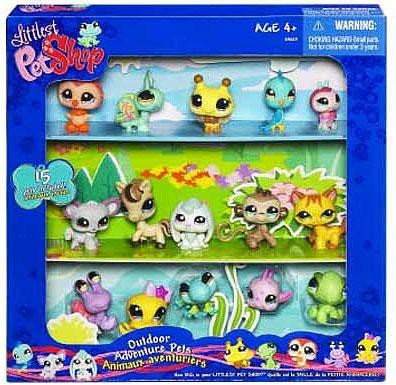 (Littlest Pet Shop Exclusive Outdoor Adventure Collectors Set #1 of 15 Pets Includes Bumblebee, Ladybug, Fish, Pony More!)