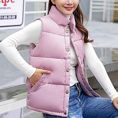 Sleeveless Lightweight Pink Vest Women Quilted Padded Stand Gilet Jacket Collar Puffer Down xSWnRREZaH