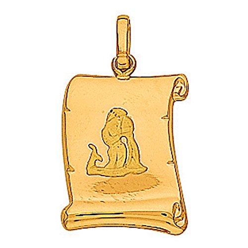 So Chic Bijoux © Pendentif Zodiaque Verseau Parchemin Or Jaune 750/000 (18 carats)