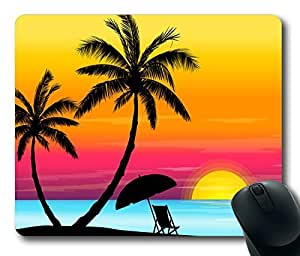 Beauiful Beach And Sunset Masterpiece Limited Design Oblong Mouse Pad by Cases & Mousepads