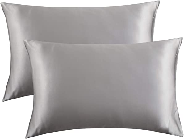 Amazon Com Bedsure Satin Pillowcase For Hair And Skin 2 Pack