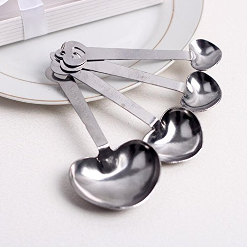 Simply Elegant Love Beyond Measure Heart-Shaped Measuring Spoons For Wedding Favor and baby shower, Set of 72 by cute rabbit (Image #1)