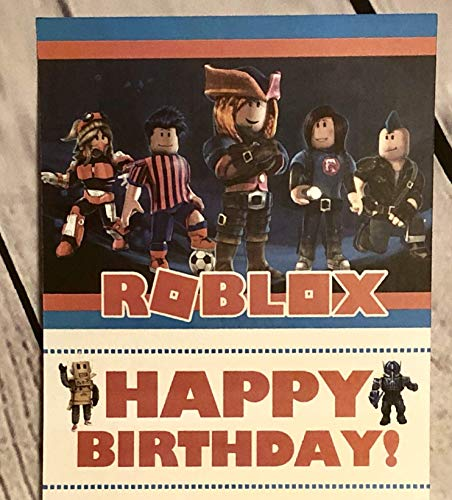 Roblox Happy Birthday Card Inspired Bday Party Supplies Decor