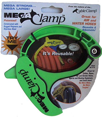 Mega Clamp Cord, Rope & Hose Organizer - Lime