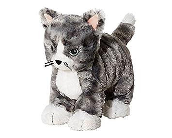 IKEA LILLEPLUTT - Peluche, gato gris, blanco - 21 cm: Amazon.es: Juguetes y juegos