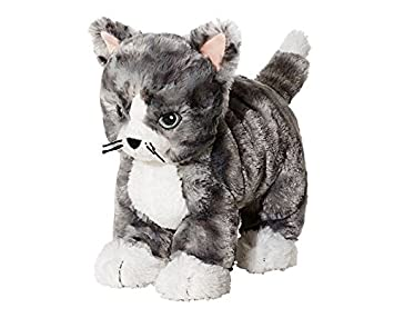 IKEA LILLEPLUTT - Peluche, gato gris, blanco - 21 cm