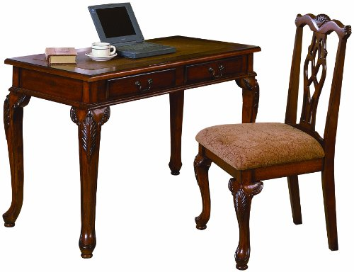 (Crown Mark Fairfax Home Office Desk/Chair Set)