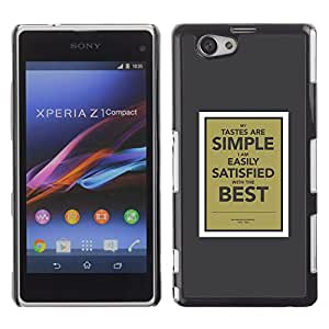 All Phone Most Case / Hard PC Metal piece Shell Slim Cover Protective Case Carcasa Funda Caso de protección para Sony Xperia Z1 Compact D5503 simple poster motivational inspirational