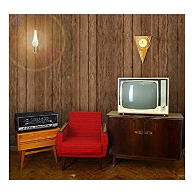 Vertical Brown Retro Wood Textured Paneling Wall Mural Removable Wallpaper, With a Professional Touch, Majestic Style