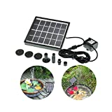 HSH-Flo 1.5W Solar Power Water Pump for Fountain Pool Garden Pond Water Decorative Submersible Water Pump