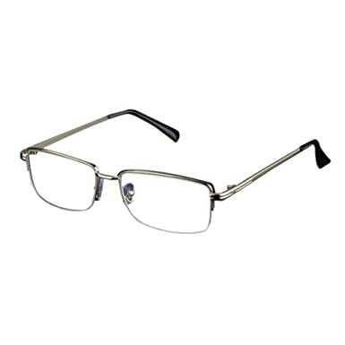 Men's Glasses Full Metal Frame Resin Lenses Comfy Light Glasses For Men Women Reading Glasses 1.0 1.5 2.0 2.5 3.0 3.5 4.0