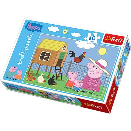 (Trefl Peppa Pig Visiting Hen House Puzzle (30 Pieces))