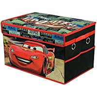 Disney Pixar Cars Lightning McQueen Storage Trunk Kids Collapsible Space Saver Organizer Storage Trunk, Ideal for Storing Toys, Books, Games, Clothes and More! Great Gift For Kids