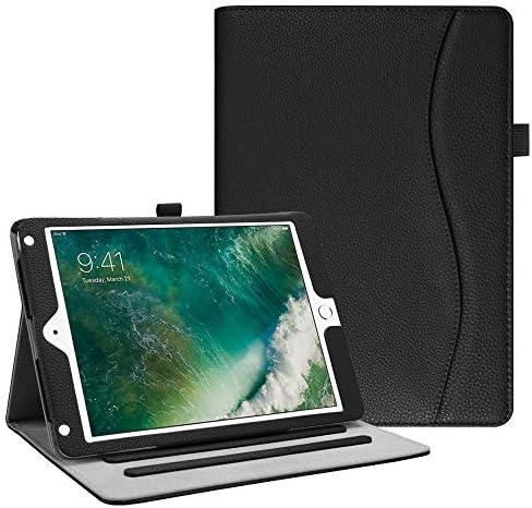 FINTIE Case for iPad 9.7 2018 2017 / iPad Air 2 / iPad Air – [Corner Protection] Multi-Angle Viewing Folio Cover w/Pocket, Auto Wake/Sleep for iPad 6th / 5th Gen, iPad Air 1/2, Black