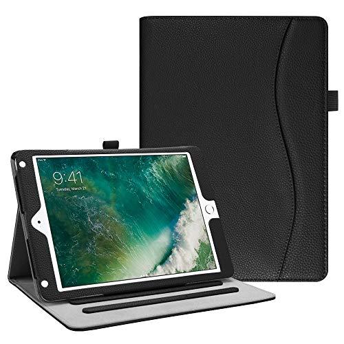 Fintie iPad 9.7 2018 2017 / iPad Air 2 / iPad Air Case - [Corner Protection] Multi-Angle Viewing Folio Cover w/ Pocket, Auto Wake / Sleep for Apple iPad 6th / 5th Gen, iPad Air 1 / 2, Black
