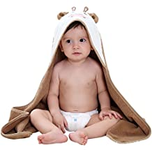 Coodebear Cow Soft Hooded Bath Towel Cloak Keeps Baby Toddler Dry Warm Blanket