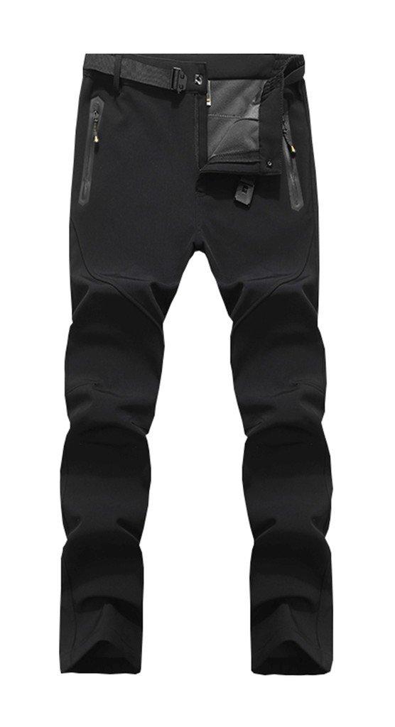 Geval Men's Winter Breathable Windproof Outdoor Softshell Fleece Ski Pants