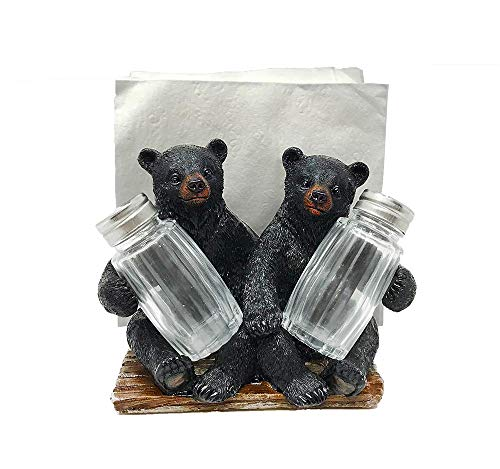- Bears Holding Salt & Pepper Shakers Set With Napkin Holder
