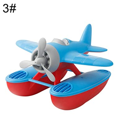Kekailu Water Plane Toy,3D Slide Sea Plane Floating Model Water Play Baby Bath Swimming Pool Toy Gift,Blue Sea Plane: Home & Kitchen