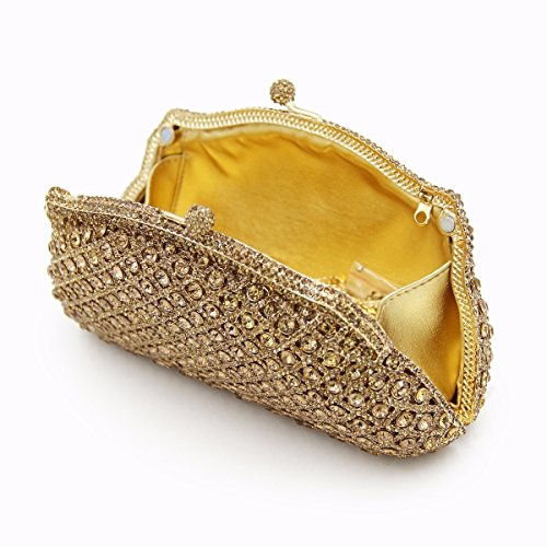 Luxury Leather Diamonds Maollmm Party New Wedding Bags Clutch Clutches Evening Crystal Purse Bag Women SqSXxw47