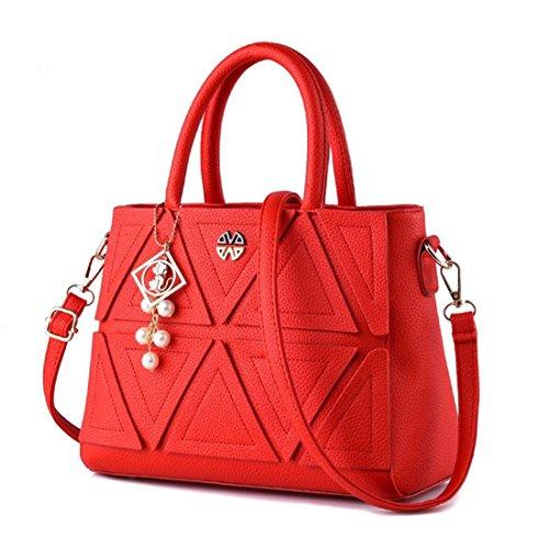 a YYF Femme Classique épaule Red Main Sac a Fille Casual Sac 039 bandouliere ou Travail dYqrdwH