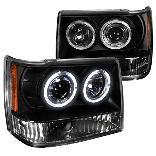 Spec-D Tuning 2LHP-GKEE93JM-TM Black Projector Headlight (Halo (Halo Projector Headlights Installation)