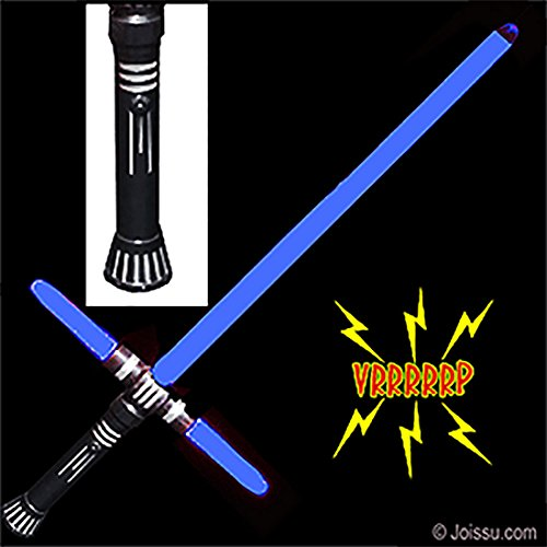 4-Piece Toy Sword Bundle Includes 1 Motion Activated Color-Changing LED Cross Hilt Light Saber with sound and 6 AAA Batteries by Imprints (Green Light Saber)