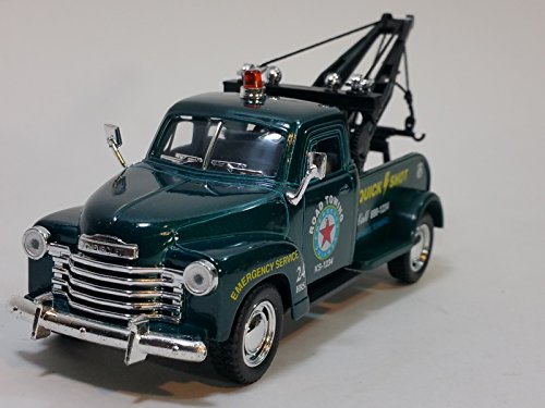 Kinsmart Forest Green 1953 Chevy Wrecker 1/38 O Scale Dieast Commercial Tow Truck (Diecast Wrecker Truck)