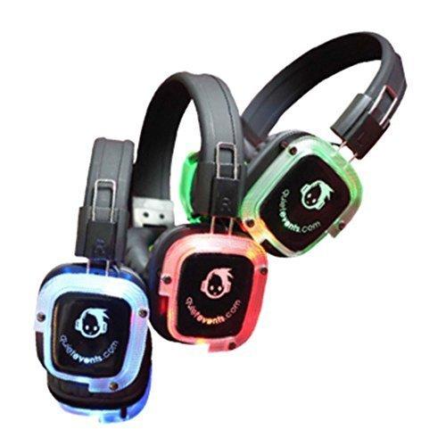 Silent Disco - Quiet Clubbing 3 Channel Party Bundle (10 Headphones + 3 Transmitters)