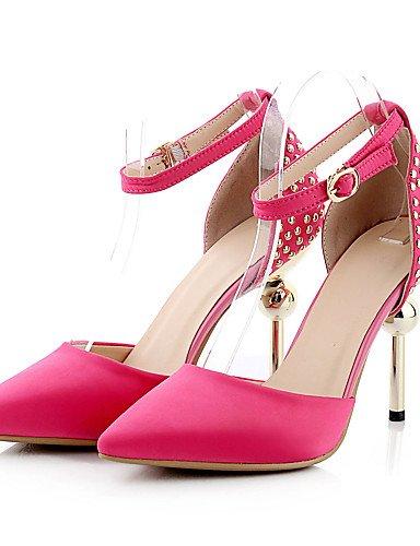 YHUJI GGX/zapatos de mujer satén talones de primavera/verano/otoño/en punta del dedo del pie talones del partido&noche/vestido/tacón, pink-us8/eu39/uk6/cn39, pink-us8/eu39/uk6/cn39 black-us5 / eu35 / uk3 / cn34