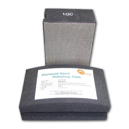 (Monster Diamond Hand Polishing Pads for Stone/Concrete 100 Grit)
