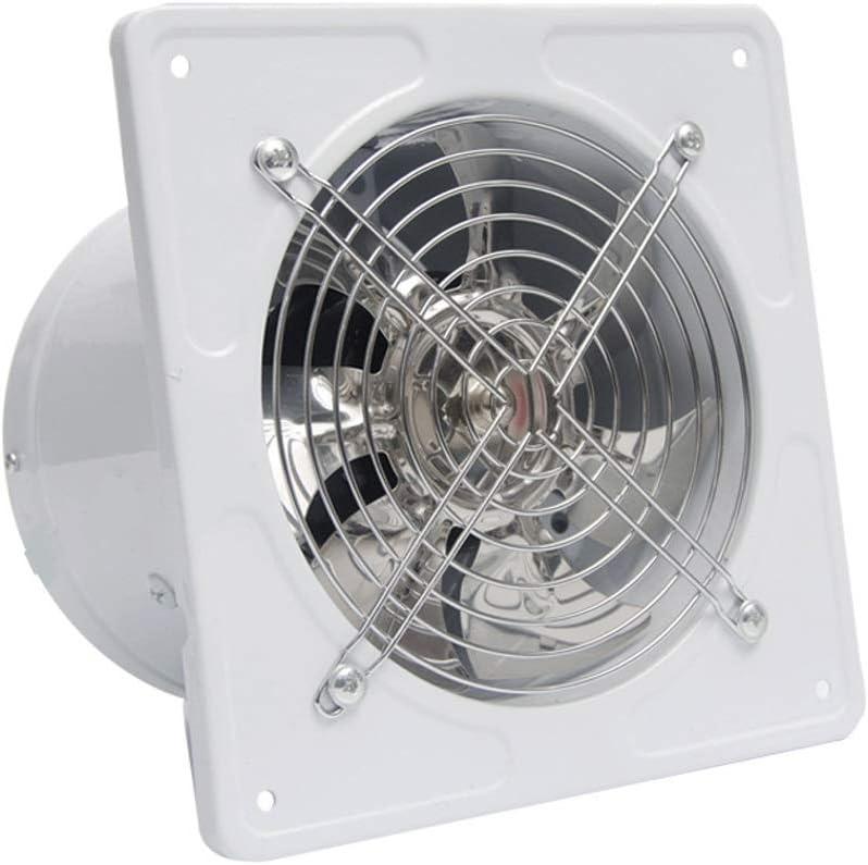Ventilador de ventilación doméstico Ventana De La Cocina De Escape del Ventilador 6 Pulgadas Pared Escape Rango Ventilador De La Campana Extractor Potente 150mm WC LITING (Color : White)