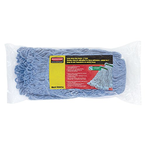 (Rubbermaid Commercial Super Stitch Blend Large Mop Heads - Two (2) Pack)
