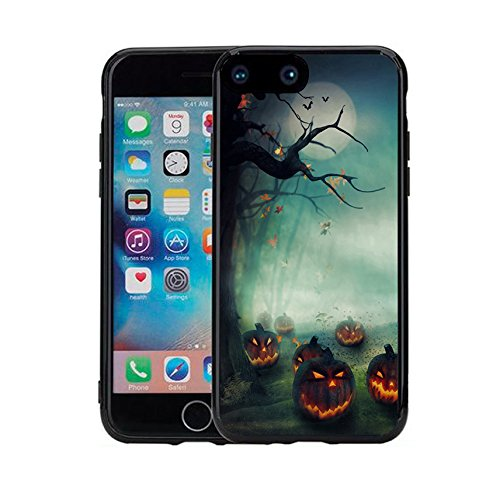 Apple 7 Case iPhone 7 Case (4.7 inches) Black Case TPU - Halloween pumpkins
