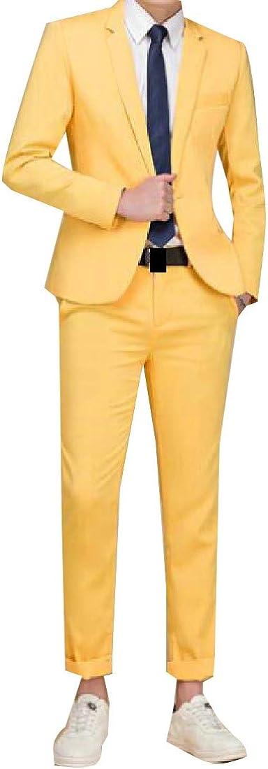 Unastar Mens Wedding Casual 3pcs Set Suit Coat Jacket Blazer Outwear