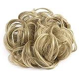 Xiton 1PC Wavy Curly Messy Hair Bun Extensions Scrunchie Hair Bun Updo Hairpiece Hair Ribbon Ponytail Hair Extensions For Women Girls(Ash Blonde)