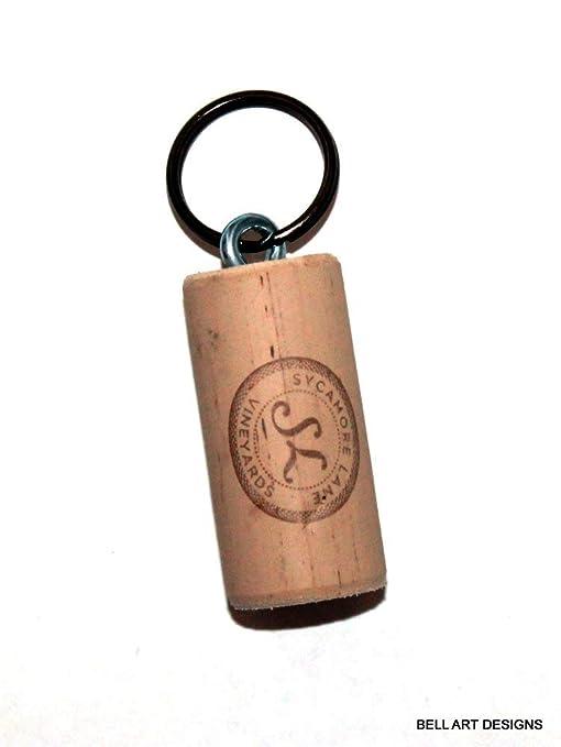 Amazon.com: Sycamore - Llavero de corcho de vino, diseño de ...