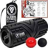 Global Fitness Authority 5 in 1 Massage Set - Foam Roller, Spiky Foot