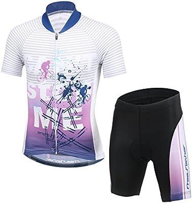 LPATTERN Maillots de Ciclismo Jersey de Manga Corta Culotte Pantalones para Ni/ños Traje Conjunto de Bicicleta para Deportes al Aire Libre