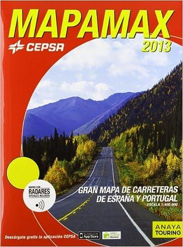 Mapamax 2013 Carreteras De Espa A Y Portugal Escala 1 400 000