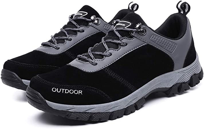 SKTWOE Calzado Deportivo, Zapatos de Senderismo Hombres con Zapatillas Impermeables duraderas para Correr Fuera de la Carretera,Negro,44EU: Amazon.es: Hogar
