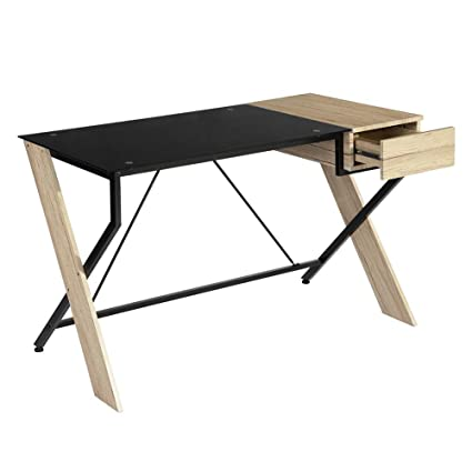 stylish office desk. GreenForest Computer Desk With Drawer Modern Stylish Office Cross  Legged Table For Small Places, Stylish Office Desk E