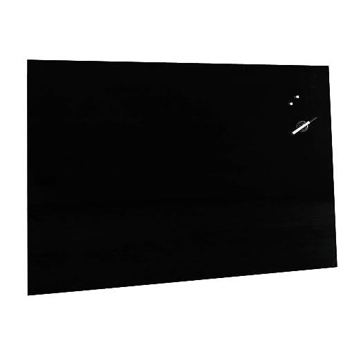 schwarz 50 x 50 cm Magnettafel II-Wahl Glas-Magnettafel