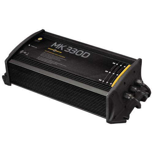 - MinnKota MK 330D On-Board Battery Charger (3 Banks, 10 Amps per Bank)