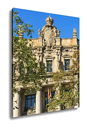 Ashley Canvas The Famous Central Post Office Building In The City Of Barcelona Spain, Wall Art Home Decor, Ready to Hang, Color, 20x16, AG6376462 by Ashley Canvas